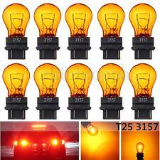 10x T25 3157 Amber Yellow Glass Halogen Brake Stop Light Turn Signal Lamp Bulb