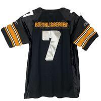 Reebok NFL Players Pittsburgh Steelers Roethlisberger Sewn Football Jersey Sz 52