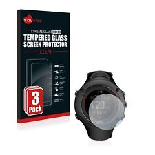 Suunto Ambit3 Run Black,3 x Savvies® Xtreme HD33 Tempered Glass Screen Protector