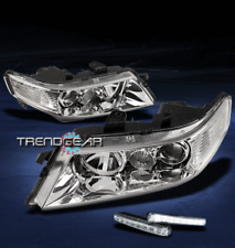 2004-2005 ACURA TSX JDM CLEAR LENS PROJECTOR HEADLIGHT LAMP W/LED DRL KIT SIGNAL