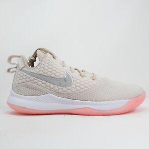 Nike LeBron Witness III Men's Basketball Shoes Pink Sneakers AO4433 100 Size 13