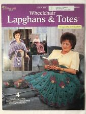 Crochet Wheelchair lapghans afghans and totes booklet lap throw slippers shawl