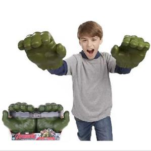 AU Kids Gift Avengers Hulk Hands Gloves Flashing Face Mask for Costume Cosplay