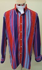 Vintage Tommy Hilfiger Mens Striped Long Sleeve Button Down Shirt Size Large