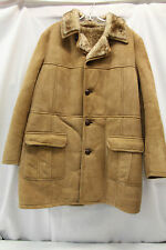 Wonderful World of Sheepskin Suede Jacket Coat Dress Womens Mens Thick Nice!
