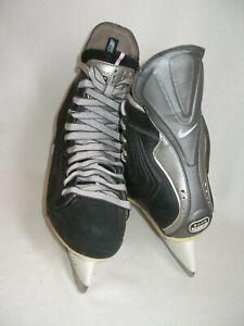 Nike Quest Q3 Ice Hockey Skates Zoom Air Men's Size 6 Custom Black Pre-Owned