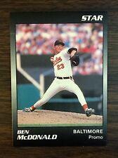 1989 Star Company BEN McDONALD Limited Edition PROMO CARD Orioles  E5105130