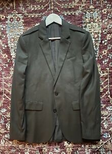 BNWT AllSaints Epaulette Texture Jacket 36 Khaki Brown £268.00