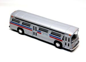 Silver Diecast Fishbowl Bus with Pullback Action