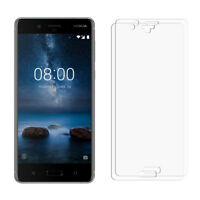 2 Clear Glossy LCD Screen Protector Film Foil Saver For Nokia 8