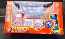 Fire engine truck pumper bubble toy