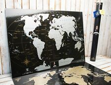 Other travel maps ebay deluxe silver black world scratch off mappersonal travel map push pin map gumiabroncs