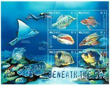 MODERN GEMS - Maldives - Marine Life - Sheet Of 6 - MNH