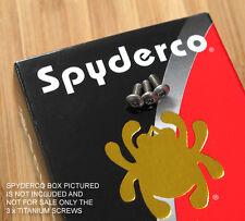 Spyderco Military 3pc Replacement Titanium Pocket Clip Torx Screw Set - NO KNIFE