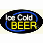 """NEW """"ICE COLD BEER"""" 30x17 OVAL BORDER REAL NEON SIGN W/CUSTOM OPTIONS 14630"""