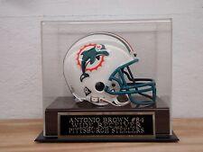 Display Case For Your Antonio Brown Steelers Autographed Football Mini Helmet