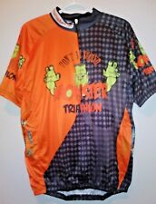 NWT Skinner Sports Mens Size XL Don't Be Scared Monster Triathlon Cycling Jersey