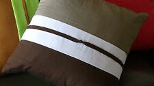 Decorative Cushion - Pillow - Grey - Brown - White