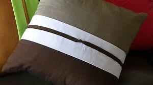 Decorative Cushion - Pillow - Grey - Brown - White