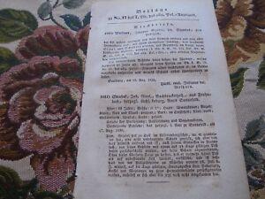 1838 PolizeyAnzeiger 17 / Pöritzsch Frohnlach Hengnau Seubtendorf Aufenau Orb