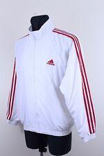 Vtg Adidas 80s Men Tracksuit Shell Jacket White Red Firebird Adicolor Size S