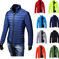 Men's Warm Stand Collar Slim Fashion Winter Zip Coat Outwear Down Jacket Witty