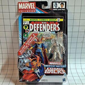 """Marvel Universe 3.75"""" Greatest Battles Comic Pack Silver Surfer & Doctor Strange"""