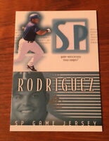 2002 UD SP Authentic Ivan Rodriguez Game Used Jersey Card J-IR