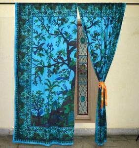 "2PC cotton Set Voile Rod Pocket Window Panel Curtain Solid Elegance Drapes 84"" S"