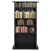 Media Storage Cabinet Game DVD Movie Tower Stable Organizer Stand 5 Shelves