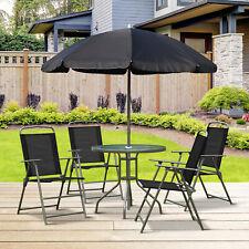 Conjunto muebles 4 sillas 1 mesa 1 sombrilla parasol terraza Jardin desayuno Nue