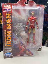 Marvel Select Bleeding Edge Iron Man w/ Base- Special Collector Edition WORN BOX