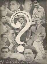 El Grafico Magazine Perin Gianini Zatuszek Marocchi Racers On Cover 1929