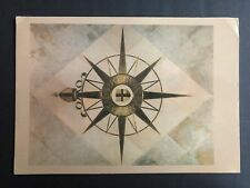 COMPASS ROSE SYMBOL OF ANGLICAN COMMUNION BEFORE NAVE ALTAR OF CANTERBU POSTCARD