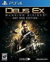 PLAYSTATION 4 PS4 GAME DEUS EX MANKIND DIVIDED DAY ONE EDITION BRAND NEW SEALED
