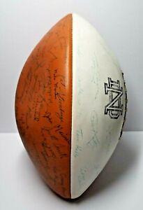 1970 Notre Dame Fighting Irish Team Signed Football Joe Theismann Ara Parseghian