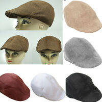Unisex Summer Peaked  Beret Flax Cap Country Outdoors Golf Hat Fashion Cabbie