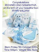 Birth of Baby Boy Congratulations A5 Card Personalised Friends New Parents Gift