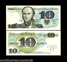 POLAND 10 ZLOTYCH P148 1982 BEM ARM UNC POLISH CURRENCY MONEY BILL BANK NOTE
