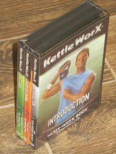 NEW KettleWorx 3-Set DVD Pack (Introduction, Fast Fat Burn, Fast Abs)