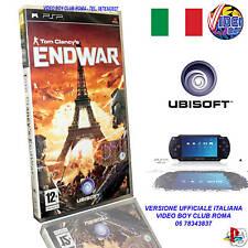 TOM CLANCY'S END WAR GIOCO NUOVO SONY PSP EDIZIONE ITALIANA PRIMA STAMPA