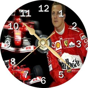 Michael Schumacher Novelty Cd Clock Can be personalised