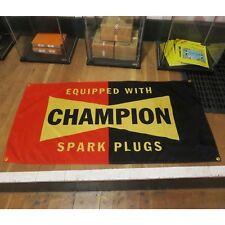 Champion Spark Plug Flag Banner Sign garage hotrod ford chevy mustang moon socal