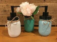 Mason Jar Soap Dispenser Loation Pump Vase Tooth Brush Holder