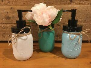 Mason Jar Soap Dispenser Loation Pump Vase Tooth Brush Holder