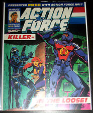 ACTION FORCE #2 (VF/NM) G.I. JOE 1987 Marvel UK Magazine Sized Comic! 24 Pages