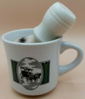 Vintage Surrey Carriage Shaving Mug with Brush & Sealed Package of Shaving Soap