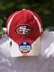 Reebok Sideline Headwear NFL  Equipment San Francisco 49ers Red White Cap Hat