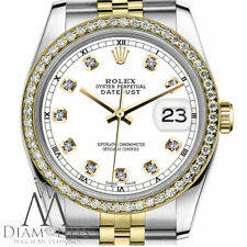 White Color Daimond Face Rolex 31mm Datejust 18K 2 Tone Diamond Jubilee Watch