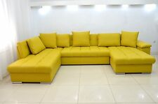 ECO LEATHER CORNER SOFA BED GROUP ERIC, BEDDING PLACE, CASH ON DELIVERY
